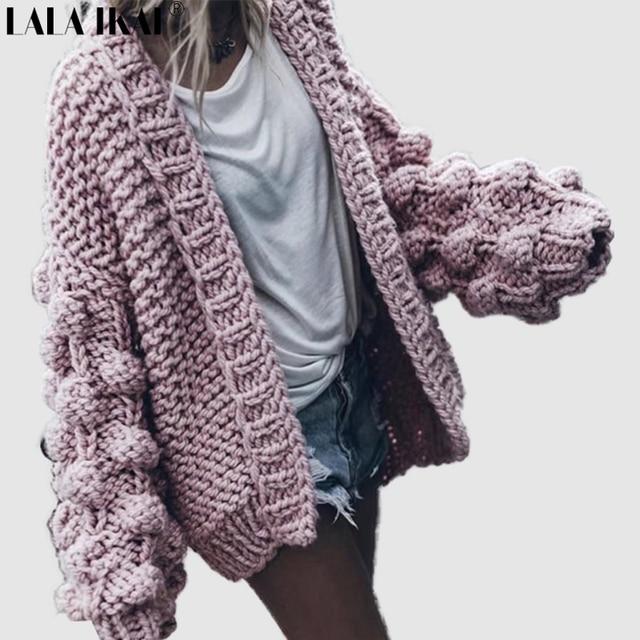 Otoño suéter retro Chaquetas mujeres crocheted del suéter hecho ...