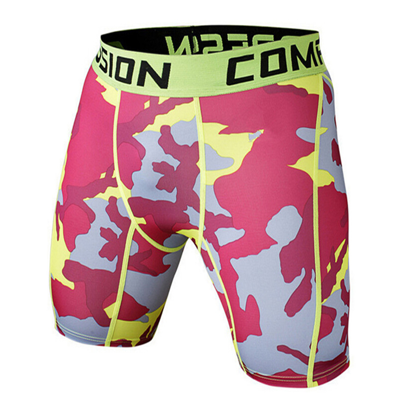 Summer Camouflag Running Shorts GYM Short Pants Quick-drying Stretch Football Trousers Jogging Compression Tights Fitness Men 2