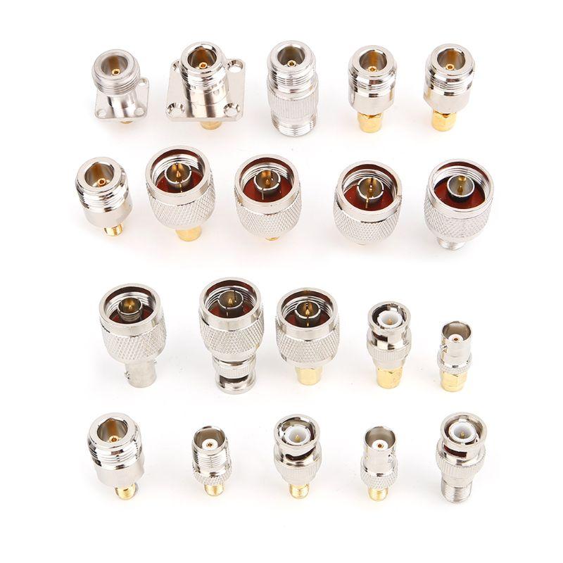 20Pcs/Set N Type BNC TNC SMA RF Connector Adapter Kit Test Converte