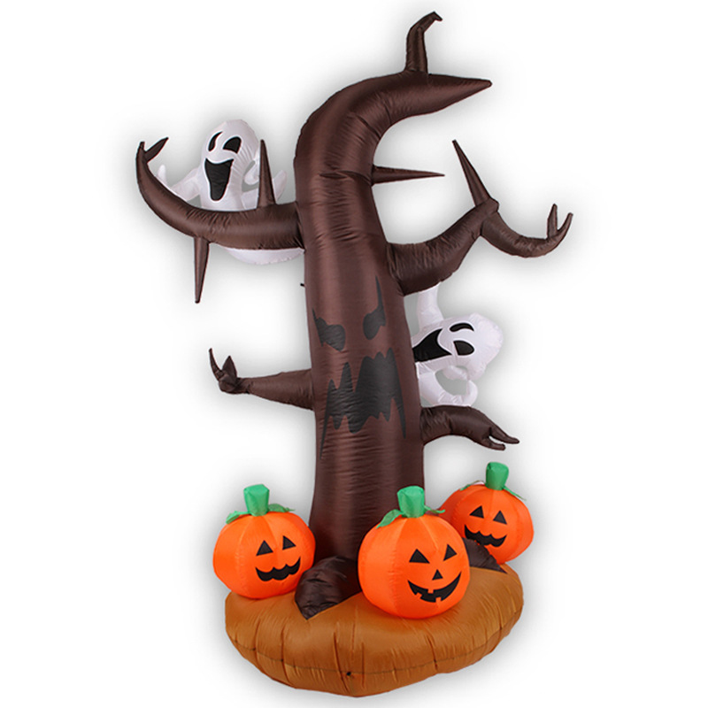 180cm Giant Ghost with Pumpkin Halloween Inflatable LED Lighted Toys Yard Decoration Party Props Blow Up halloween creativity 3d stereotophora pumpkin window decoration wall stickers