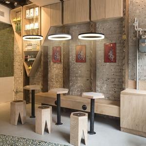 Image 5 - Weiß/Schwarz Moderne LED Anhänger Lichter Für Esszimmer Wohnzimmer lamparas colgantes pendientes Hängen Lampe suspension leuchte