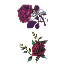 Wyuen Hot Waterproof Temporary Tattoo Stickers For Adults Kids Body Art Red Rose P-063 Fake Tatoo For Man Woman Tattoos