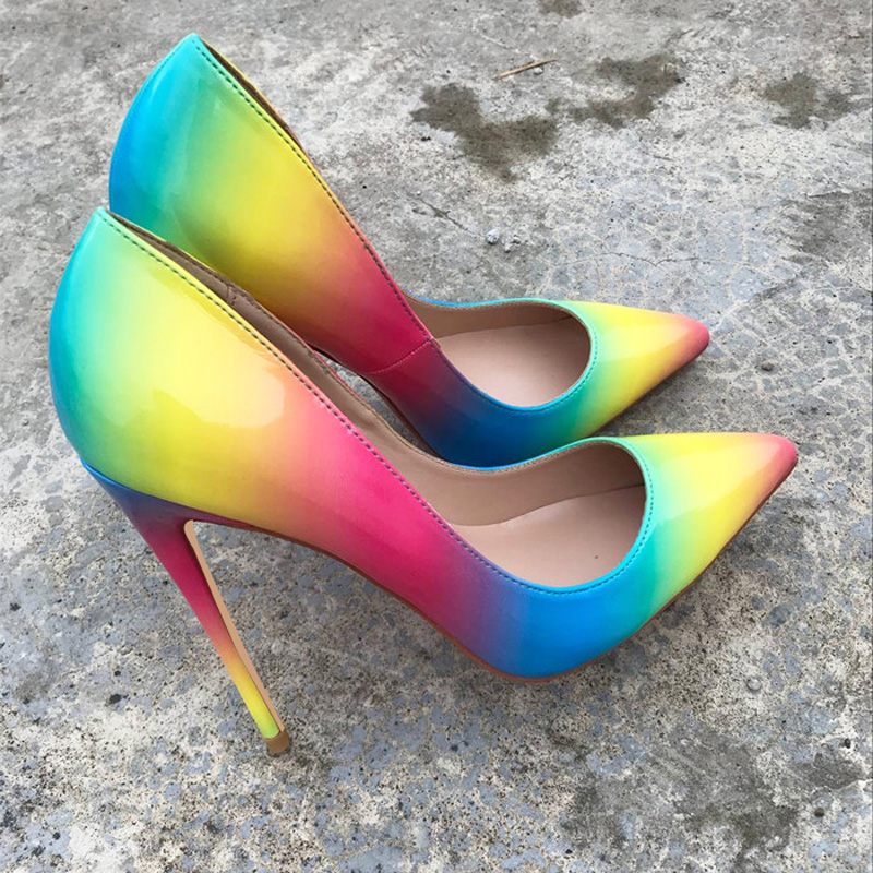 Buy heels rainbow and get free shipping on AliExpress.com 76f226d9a2ac