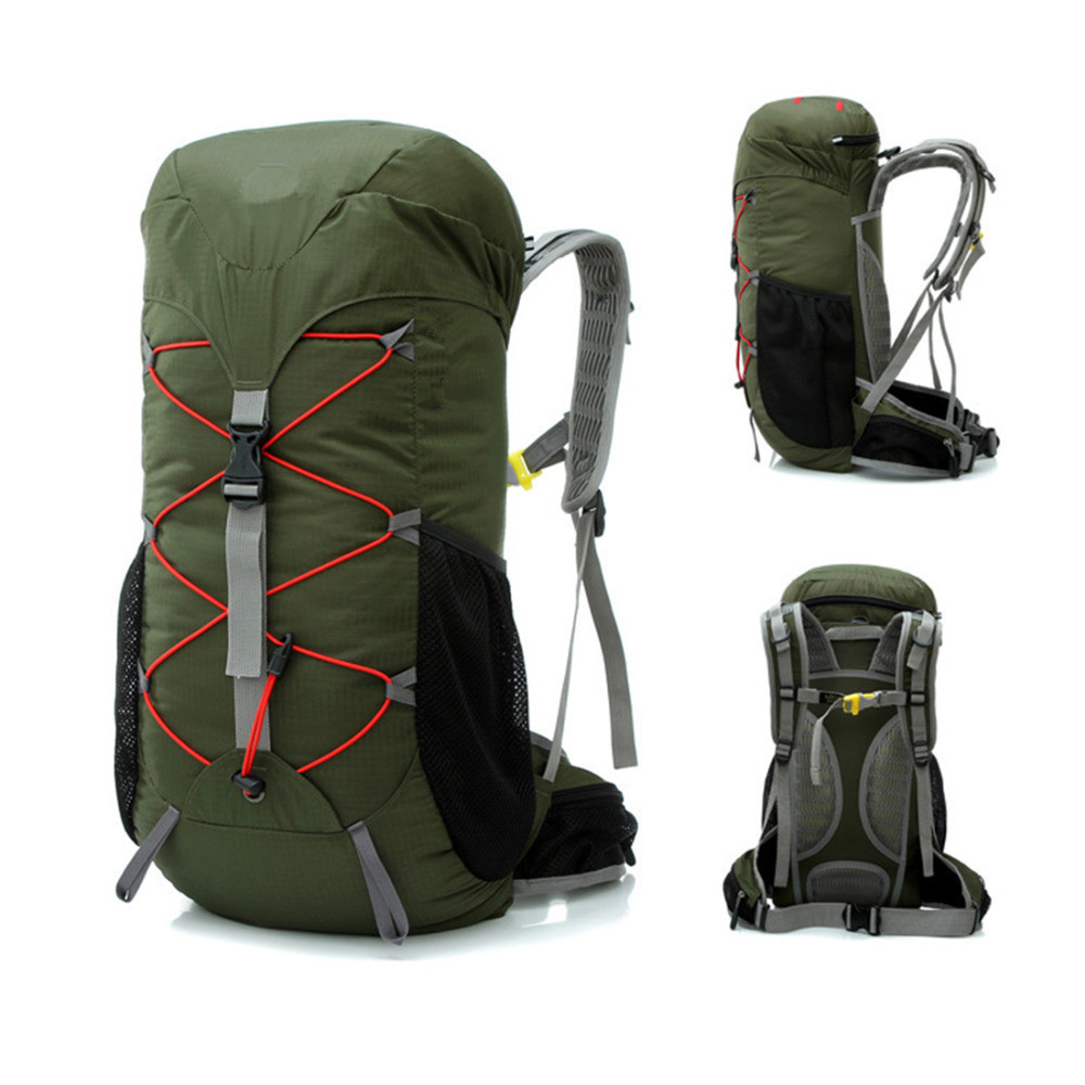 41f90be412 35L Outdoor Men Camping Hiking Waterproof Ultralight Backpack Luggage Women Travel  Mountain Rucksack Double Shoulder Bag Pack-in Climbing Bags from Sports ...
