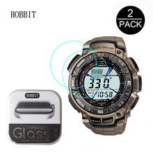 2Pack For Casio PRG-240T 0.3mm 2.5D 9H Clear Tempered Glass Screen Protector Anti-Scratch Smartwatch Film For casio 240t
