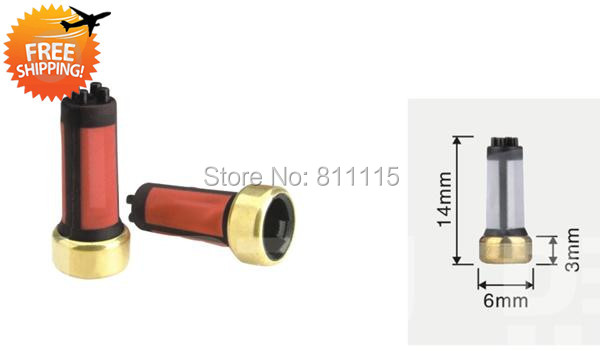 Fuel Injector Filter 6x3x14mm 500pcs Red Free Shipping Injector Filters Repair Kits