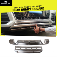 Stainless Steel Car Front Bumper Guard and Rear Bumper Guard for Audi Q5 2013 2014 2015
