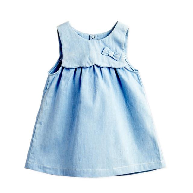 90c215bf3 2016 Summer Baby Girls Denim Dress Jeans Dress for Little Kid Girls ...