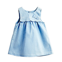 Hot Selling Baby Clothes Girl Clothes Denim Sleeveless Summer Dress Clothes Denim Jeans Costumes For Girls