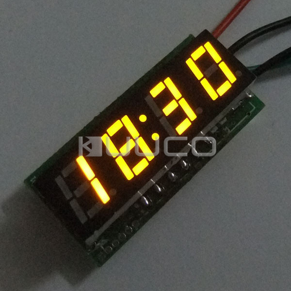 DC 12V 24V Digital Meter/Car Clock 24 Hours Display Led Digital Clock/Panel Meter/Time Meter DIY Time Monitor/Tester 24 hour digital clock yellow led display car clock digital meter panel meter adjustable clock dc 12v 24v diy time monitor tester