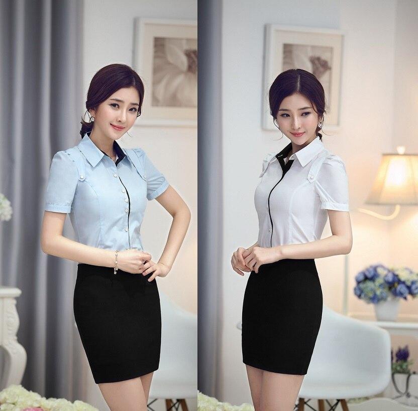 plus size new 2015 summer formal uniform design female office suits