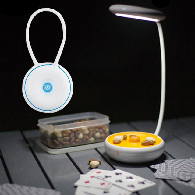 Candeeiro de Mesa recarregável 3 Modos Regulável Lâmpada de Mesa de Carregamento Inteligente de Toque Olhos de Proteção Folding Noite Luz lâmpada de Acampamento