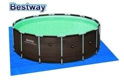 58003 Bestway 4.88 m * 4.88 m/16'x16 'com Pano de Chão Para Piscina Acima Do Solo Para Proteger A Sua Piscina de Danos