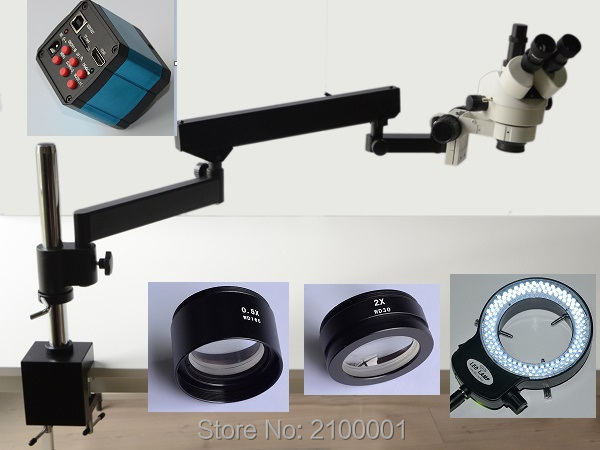 FYSCOPE HOT SALE 3 5X 90X ARTICULATING ARM ZOOM STEREO MICROSCOPE 14MP HDMI CAMERA