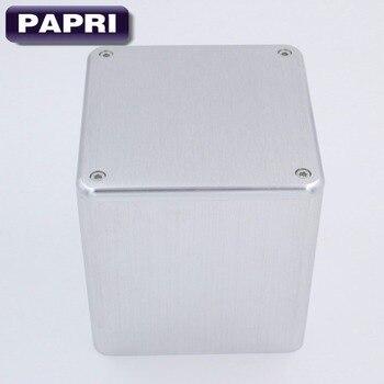 цена на PAPRI 110*110*96MM Silver Aluminum Black Transformer Protect Cover Case Box Protect Enclosure Audio HIFI Tube Amplifier 1PCS