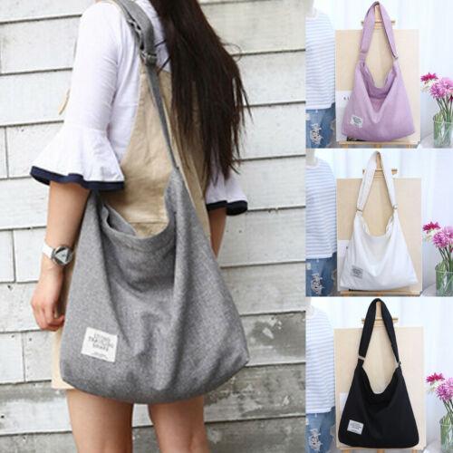 2019 Women Canvas Shoulder Bag Crossbody Messenger Tote Girls Travel Satchel Handbag Fashion Shopping Bag