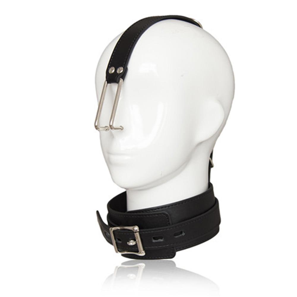 DOMI Smooth Stainless Steel Metal Nose Hook Couples SM Fetish Neck Collars Bondage