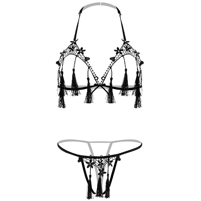 TERMEZY Sexy Exotic Apparel Lingerie Bowknot Adornment Women