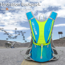 Local Lion 5L Hydration Backpack Bike Racing Cycling Rucksack Cross Country Running Bag W/ 2L BPA Free Water Bladder Included