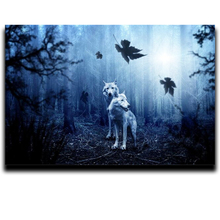 5d Diamond cross stitch painting embroidery DIY Craft Square & Round diamond mosaic Full Image Wolf in the forest