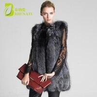 2018 new winter fur coat /Vest Women warm faux plus size fur Jacket thicken vintage women faux fur Fox coat Vests