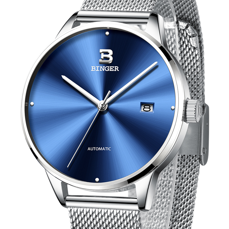 2018 New BINGER Mens Watches Brand Luxury automatic mechanical Men Watch Sapphire Wrist Watch Male relogio masculino B-5080M-3 sapphire automatic mechanical watch classic mens watches top brand luxury fashion male wristwatch high quality relogio masculino