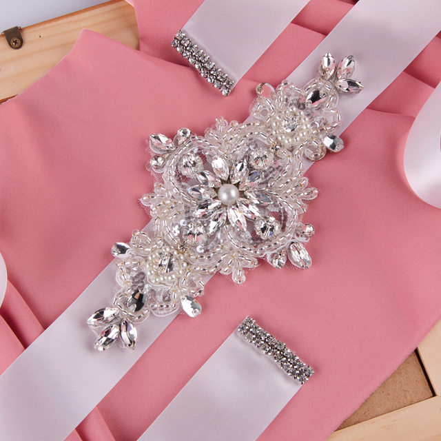 TOPQUEEN FREE SHIPPING S30 Rhinestones Pearls Wedding Belts Wedding sashes,Rhinestones Pearls Bridal Belts Bridal Sashes.