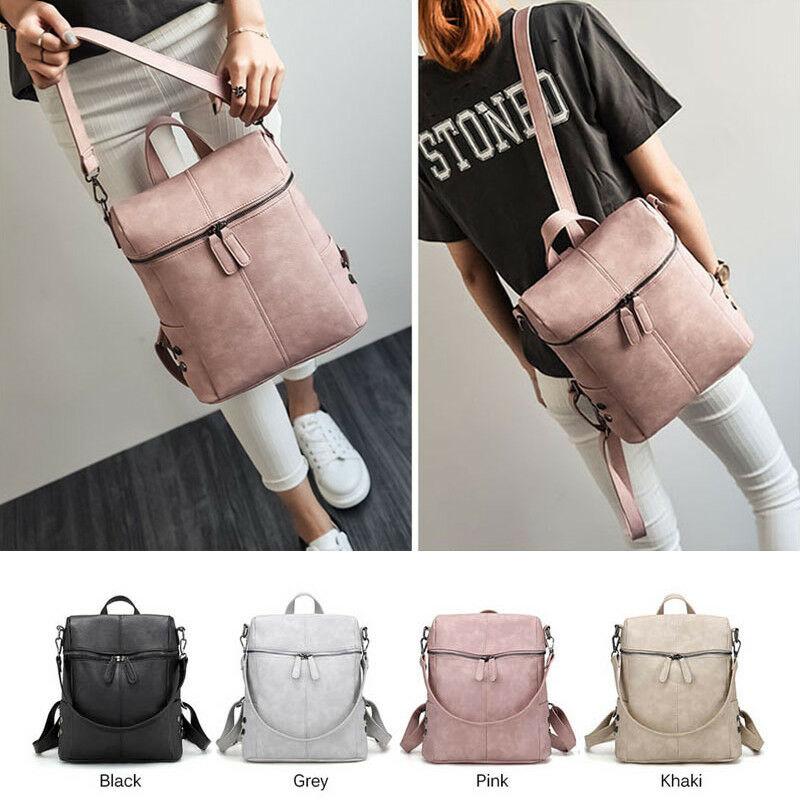 Women's Backpack 2019 Newest Fashion Travel PU Satchel Leather  Rucksack Shoulder School Bag Hot Sale
