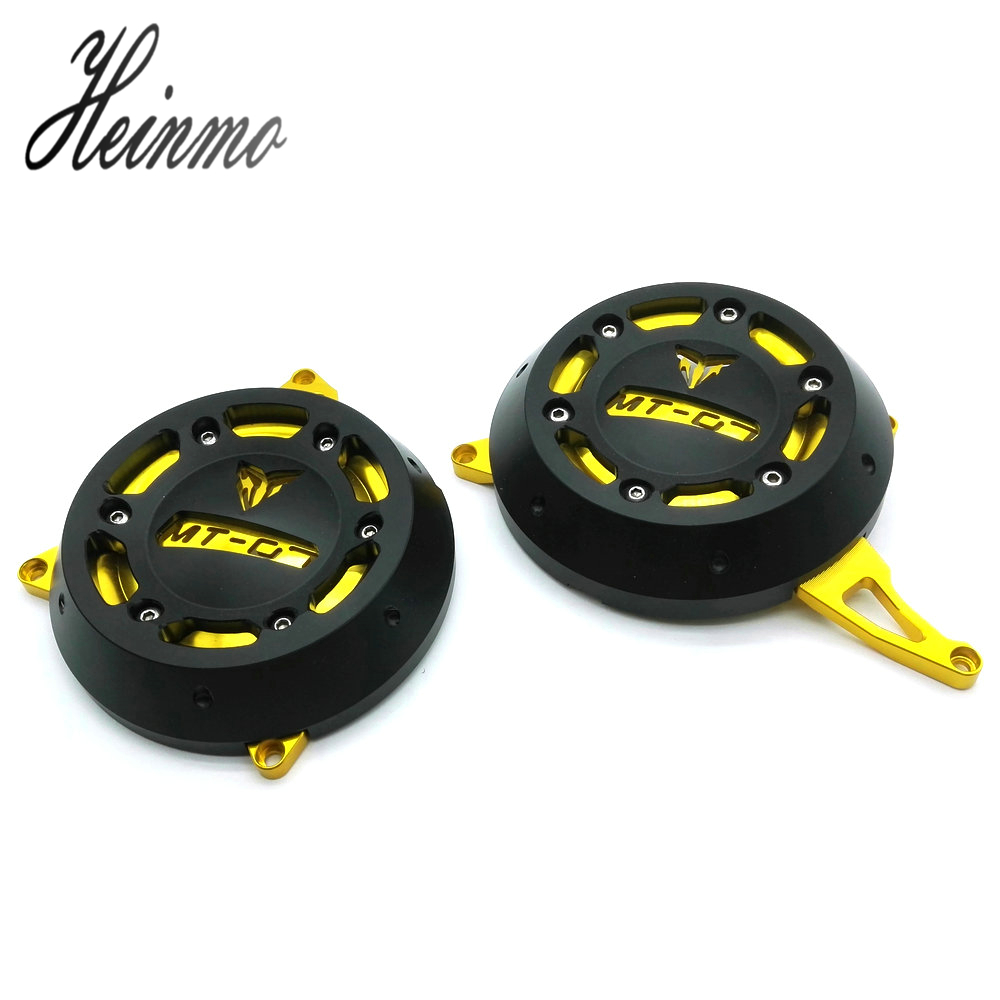 Motorcyle Engine Stator side Case Cover Engine Cover Protector For YAMAHA MT-07 MT07 FZ-07 FZ07 2014 2015 2016 Golden