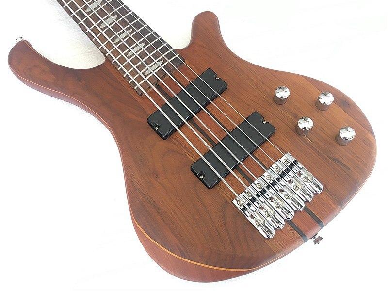 Professionnel 6 cordes actif guitare basse électrique cou à travers le corps basse guitare