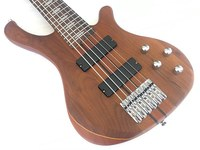 professional 6 string active electric bass guitar neck through body bass guitar
