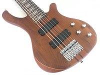 professional 6 string active electric bass guitar neck through body bass guitar