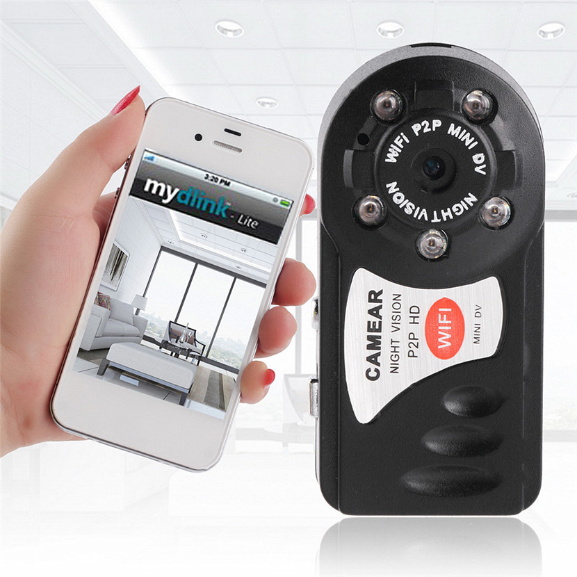 HOT P2P HD Mini Wifi DVR IP Camera Camcorder Video Recorder Night Vision DV 2.4G 802.11n WIFI Built in Antenna Motion Detection
