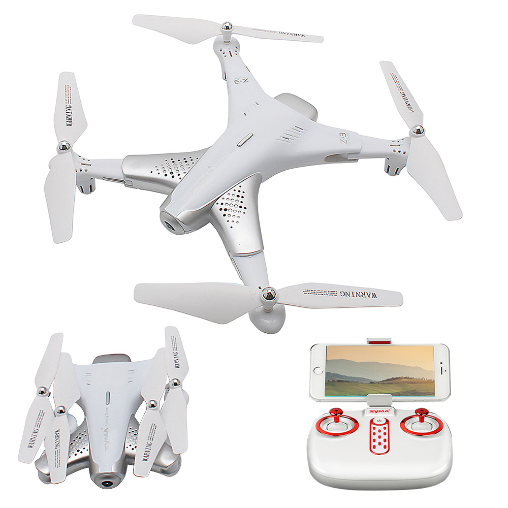 цена Syma Drone Z3 720P Drones with Camera Wifi FPV Optical Positioning Foldable Altitude Hold RC Quadcopter Dron vs H36 X12
