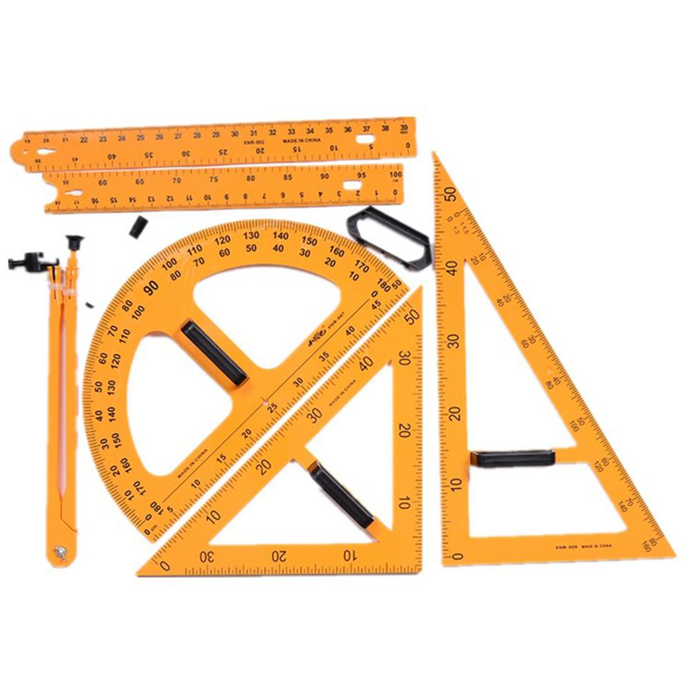 Education School Tool Teaching ruler set Triangle Compasses Protractor Miter Framing Measurement Ruler r20