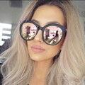 Los hombres de la Marca de Lujo gafas de Sol Ronda Pareja Rosa gafas de Sol Las Mujeres 2016 Gafas de Sol de Conducción Femenina Femme Luneta Sunglases Oro Rosa