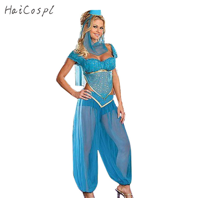 plus size xl sexy princess jasmine costume adults women belly dance performance arab costume carnival halloween