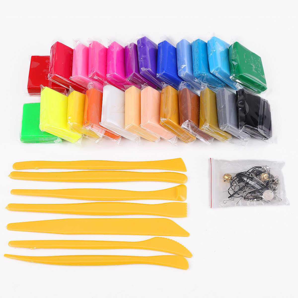 24 colors + Pate polymer modeling tools + accessories