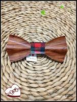 Livraison Gratuite Moderne Art Rose Bois cravates pour hommes 100% Arc À La Main Cravates, cravate