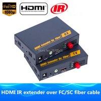 Лучше, чем hdbitt HDMI Волокно оптическое TX/RX 1080 P HDMI ИК удлинителя по ip tcp оптический аудио видео конвертер по SC/fc Волокно кабель