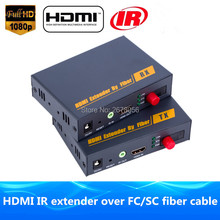 Higher Than HDBitT HDMI Fiber Optic TX/RX 1080P HDMI IR Extender Over TCP IP  Optical Video Audio Converter By SC/FC Fiber Cable
