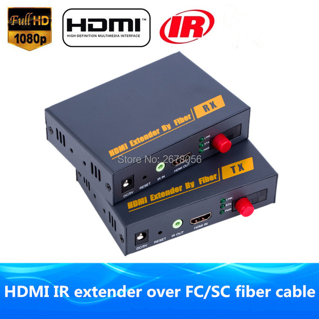 US $129 02 49% OFF|Better Than HDBitT HDMI Fiber Optic TX/RX 1080P HDMI IR  Extender Over TCP IP Optical Video Audio Converter By SC/FC Fiber Cable-in