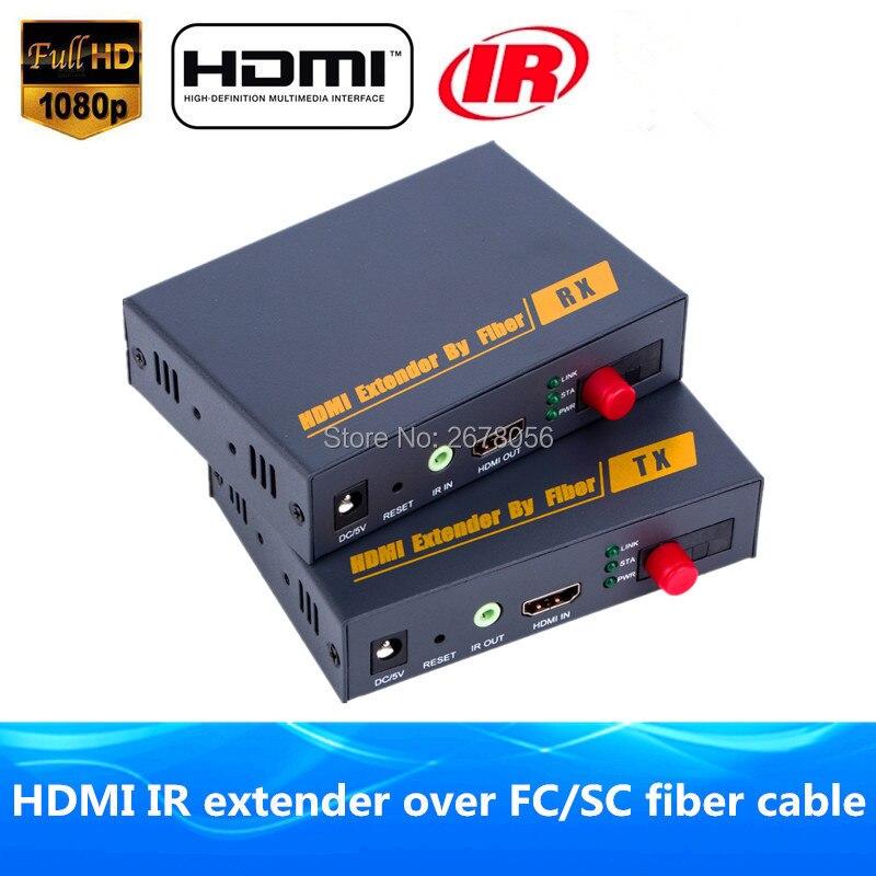 Better Than HDBitT HDMI Fiber Optic TX/RX 1080P HDMI IR Extender Over TCP IP Optical Video Audio Converter By SC/FC Fiber Cable
