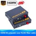 Melhor do que o hdbitt hdmi fibra óptica tx/rx 1080 p hdmi extensor ir sobre TCP IP Óptica Conversor de Áudio e Vídeo Por SC/FC Cabo De Fibra