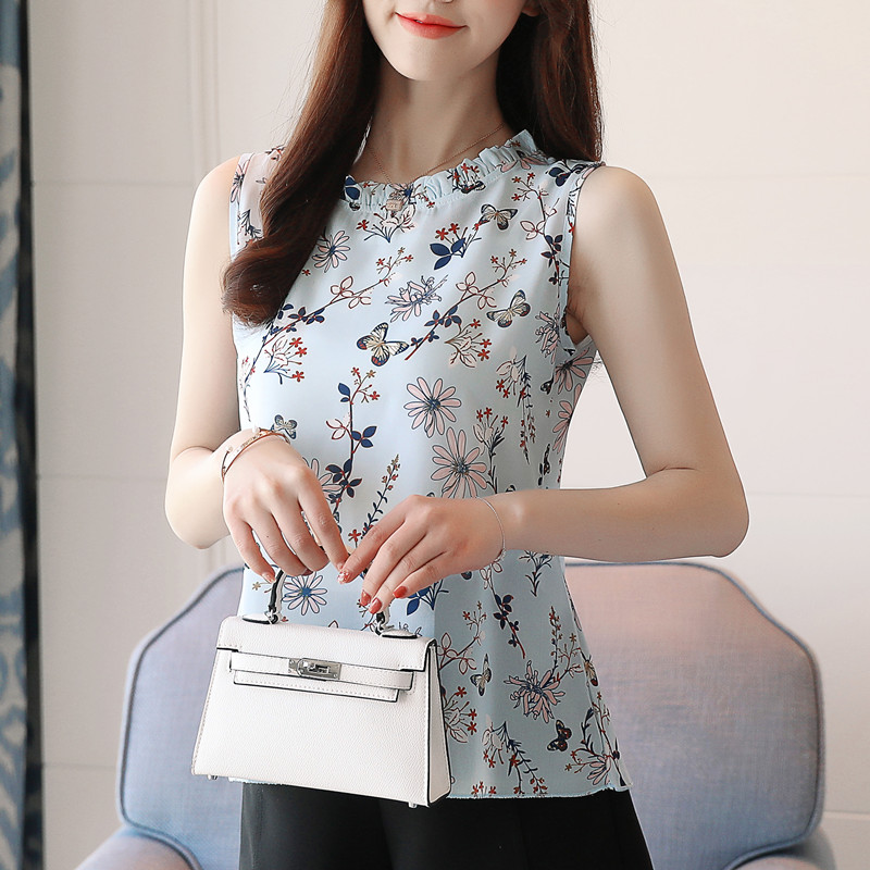 Fashion Woman Blouses Summer Women Tops And Blouses Ladies Sleeveless Blusa Feminina Plus Size XXXL Korean Fashion Clothing