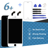 5 5 Black White Display For IPhone 6 Plus LCD Screen Digitizer Assembly Mobile Phone Pantalla