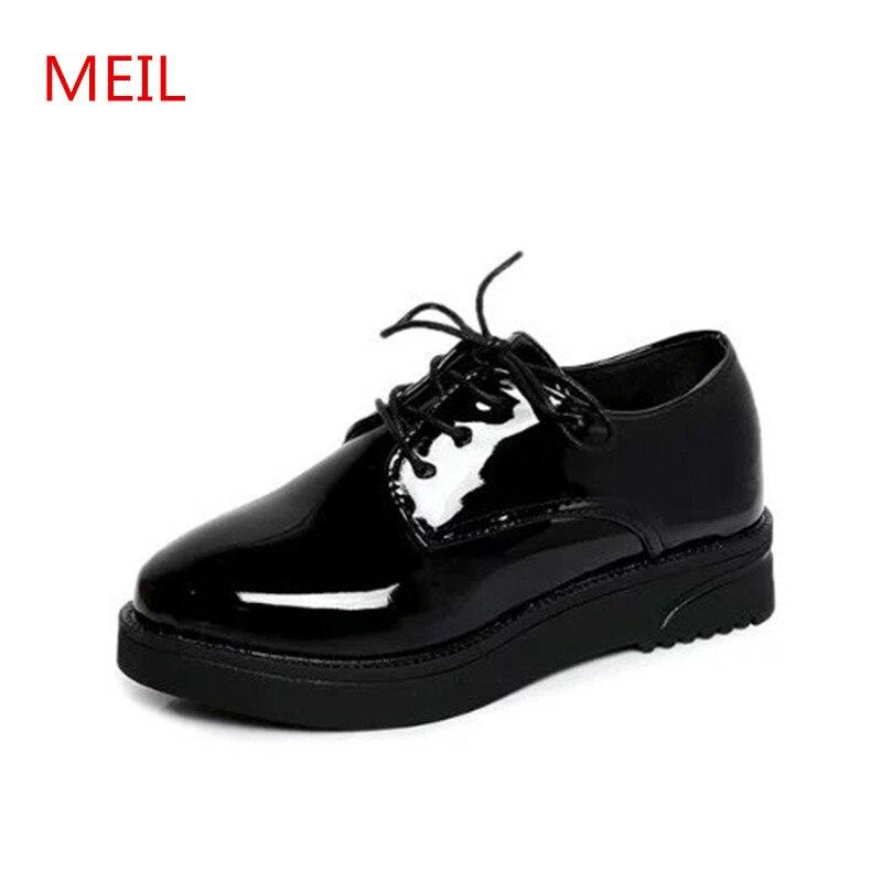 2018 Mujer Oxfords Alta Flats Mujeres Plataforma Calidad Zapatos PvBqzw7q