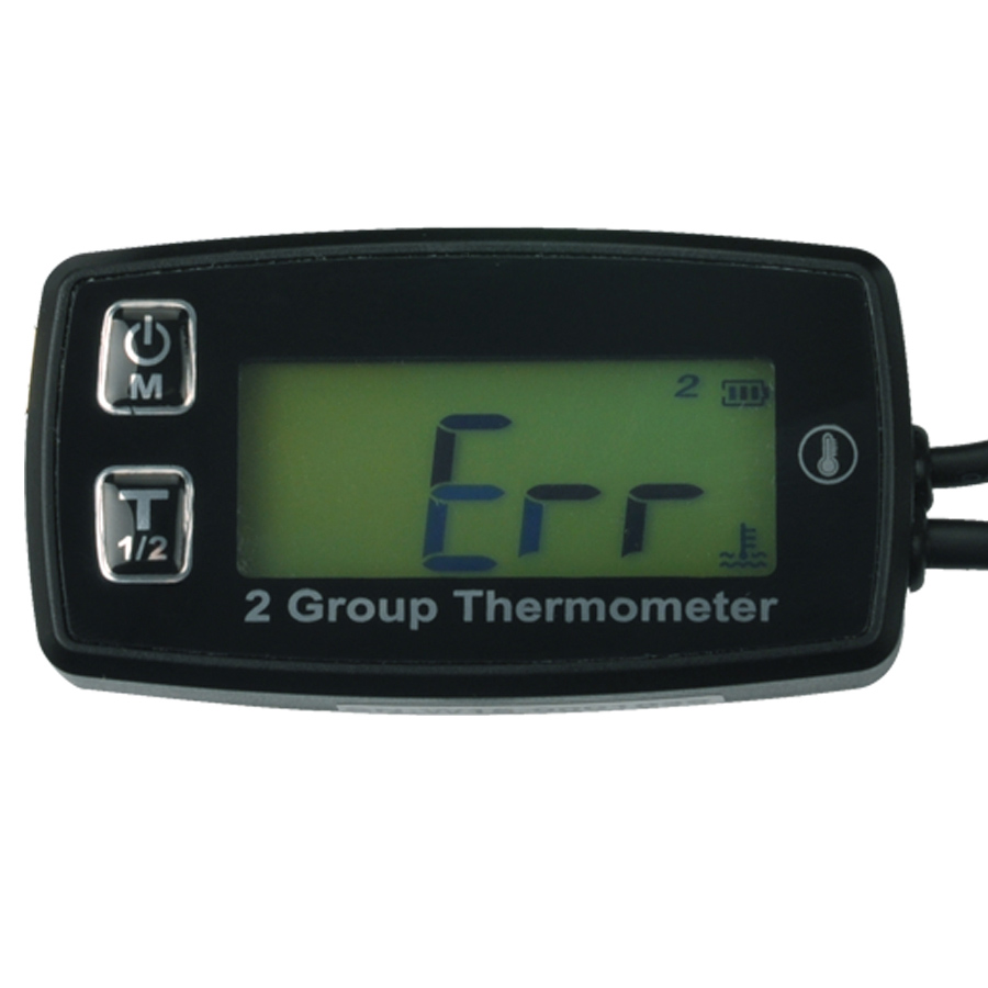 RL-TM004 Digital 2 TEMP METER thermometer temperature meter for Dirt Pit Bike Motorcycle DIRT BIKE ATV 110cc 125cc 250CC oil waterproof digital lcd counter hour meter for dirt quad bike atv motorcycle snowmobile jet ski boat pit bike motorbike marine