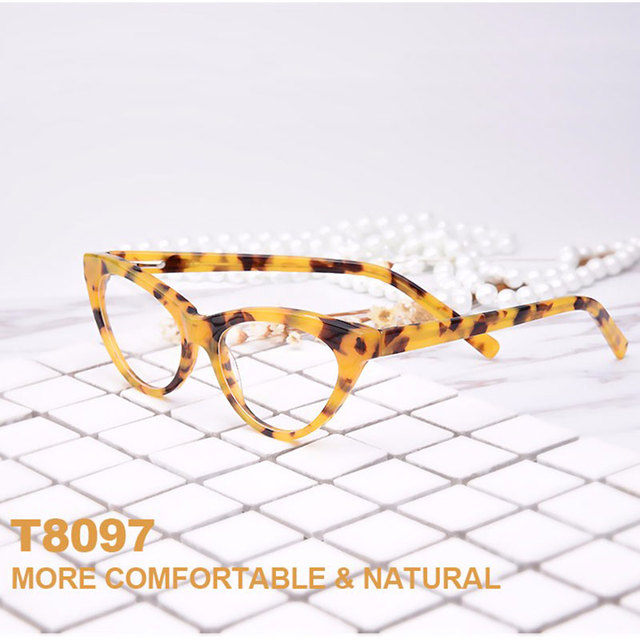 New Fashion-Forward Style Cat-Eye Hypoallergenic Acetate Full Rim Women Optical Eyeglasses Frame With Spring Hinge