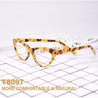 New Fashion Forward Sunglass Style Cat Eye Hypoallergenic Acetate Full Rim Women Optical Eyeglasses Frame With